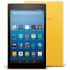 "Amazon Fire HD 8 16GB 8"" Tablet 7th Generation 2017 Rel Canary Yellow SX034QT"