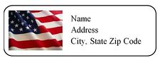 30 Personalized Return Address Labels US Flag Buy 3 get 1 free (us3)