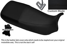 BLACK STITCH CUSTOM FITS HONDA XL 600 V TRANSALP DUAL LEATHER SEAT COVER