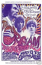 Power Trio: Eric Clapton & Cream at Selland Arena in Fresno Concert Poster 1968