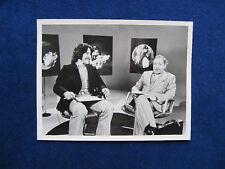 B&W PHOTO TENNESSEE WILLIAMS & GERALDO RIVERA ABC TV