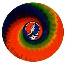 "(#28) Grateful Dead STEAL YOUR FACE on Tie Dye 4"" window / bumper sticker (AF465"
