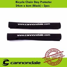 Cannondale NEW Bike Bicycle Chain Stay Protector 24cm x 6cm (Black) - 2pcs