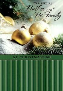To A Special Brother & His Family - Christmas Greeting Card - 20843