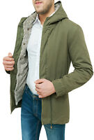 Giaccone Parka uomo verde slim fit aderente casual giacca invernale S M L XL XXL