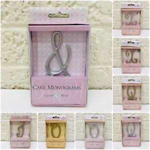 "NEW‼ Lillian Rose Monogram Anniversary Wedding Cake Topper Small 2-3/4"" Choice"