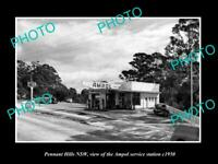 OLD POSTCARD SIZE PHOTO OF PENNANT HILLS NSW AMPOL OIL Co SERVICE STATION 1950
