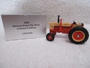 1990 Ertl Case-O-Matic 800 tractor National Toy Show 1/43 scale & box lot T