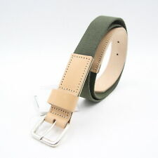 New Mens Norse Projects Lennart 30 Military Web Belt Tan Leather 110 W 36 - 38