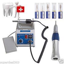 Dental Lab MARATHON 35K RPM Micromotor Fit NSK Straight Handpiece w/ 5*Burs s1df