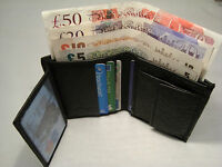 Soft Cow Leather Wallet with id and Photo Space and Change Pocket Tall Slim