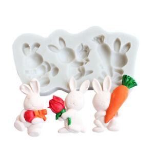Rabbit Carrot Silicone Cake Mold Fondant Sugarcraft Decor Chocolate Baking Mould