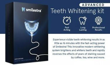 Smilestra Teeth Whitening Kit  Advanced 16X LED Teeth Whitening Light