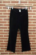 NEW Banana Republic Martin Fit Womens Velvet Dress Pants Sz 8 Black Flare Leg