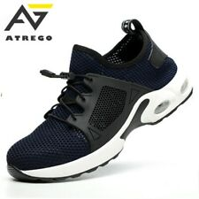 AtreGo Men's Safety Steel Toe Cap Work Shoes Lightweight Sport Mesh Trainers