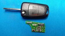 VAUXHALL VECTRA C SIGNUM 2 BUTTON REMOTE KEY FOB WITH BLANK CHIP & BLADE