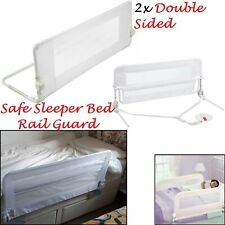 2x Safetots Childs Double Sided Bed Rail Toddler Bed Guard Bed Side Rail White