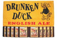 DRUNKEN DUCK ENGLISH ALE Pub Bar Towel & 10 matching Beer Mats Coasters