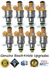 Reman Genuine Bosch 4 Hole Upgrade Vortec 8x Fuel Injectors GM 454cid 7.4L