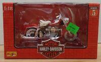 1969 FLH Duo Glide Harley-Davidson Motor Cycles Maisto 1:18 073018DBT3