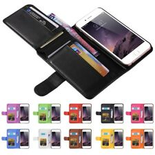 For iPhone 6 7 8 Plus Samsung Luxury Flip Cover Wallet Card Leather Phone Case