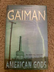 American Gods - Neil Gaiman (Hardcover, 2001, Very Good+, First Edition (UK))