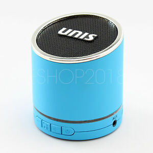 Hi-Bass Wireless Portable Bluetooth Mini HiFi Speaker Boombox for iPhone - Blue
