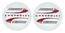 New CHEVROLET Hub Center Cap Covers for GENNIE Steel Wheels PAIR
