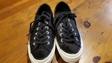 Converse All Star Chuck Taylor Black Fur Sneakers Size mens 7/ womens 9 NWOB
