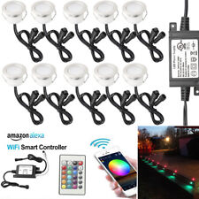 10X 45mm Smart Home WIFI Control RGB Yard LED Deck Stair Lights for Alexa Timer