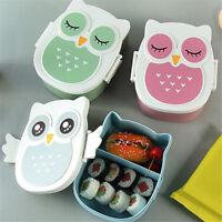 Childrens Kids Plastic Snack Lunchboxes Animal Printed Sandwich Food Storage Box
