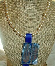 """18"""" New With Tag Spain Capricho Vintage Majorica Single Strand Pearl Necklace"""