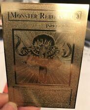 USA Seller Cosplay Yugioh Monster Reborn English Golden Metal Card Custom Made