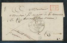 1835 Lettre en Port Payé PP ROUGE pr le Maire de Lisy CAD 12 St Girons P596