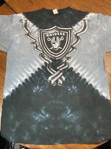 Vintage Oakland LA Raiders Liquid Blue Shirt Large New Vegas Tie Dye NOS NWOT