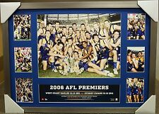 WEST COAST EAGLES 2006 AFL PREMIERS PRINT OFFICIAL PREMIERGRAPH FRAMED JUDD
