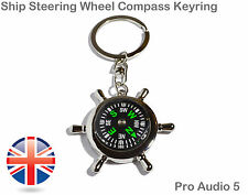 Chrome Collectable Keyrings with Compass
