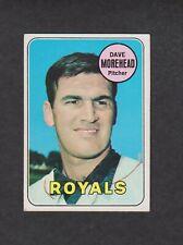New listing 1969 Topps Baseball Card #29 Dave Morehead Kansas City Royals EX+ Original