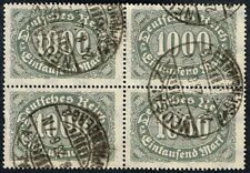 GERMANY 1923 STAMP Mi. # 252 wmk 2 INFLATION USED BLOCK OF FOUR