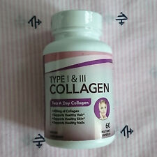 DIVINE HEALTH BY DR. COLBERT Type I & III Collagen 60 Vegetable Capsules 02/2021