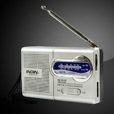 Slim Pocket Size World AM/FM Radio Receiver Antenna Mini Telescopic Portable