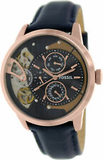 Fossil Men's Townsman ME1138 Blue Leather Japanese Quartz Fashion Watch