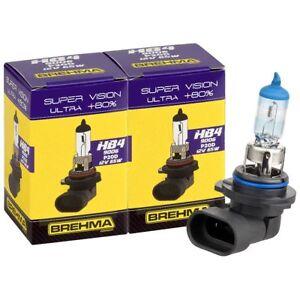 Duo Set BREHMA Premium HB4 9006 Super Vision Ultra +80% Autolampe 12V 51W KFZ