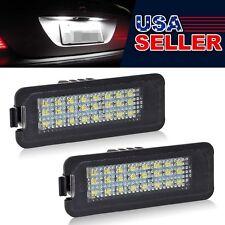 2x White 24-3528-SMD LED License Plate Light Error Free for VW Golf EOS