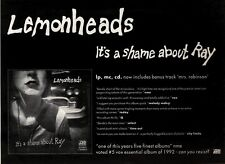 12/12/92PGN44 LEMONHEADS : IT'S A SHAME ABOUT RAY ALBUM ADVERT 7X10""
