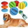 Dog Pet Chew Dispensing Toy Food Dispenser Ball Bite Clean Teeth Natural Rubber