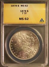 1878 Morgan Silver Dollar MS62 7TF rev. of 78