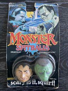 1989 MONSTER Spitballs DRACULA & FRANKENSTEIN New In Package LJN Entertech