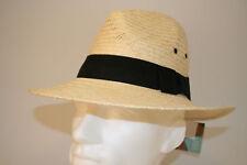 Sombrero de paja para hombres Verano Fieltro con banda y ojales, 58 cm medio sólo £ 9.99
