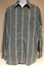 The NORTH FACE Button Down Stripped Plaid Men's Long Sleeve Shirt XL Pocket